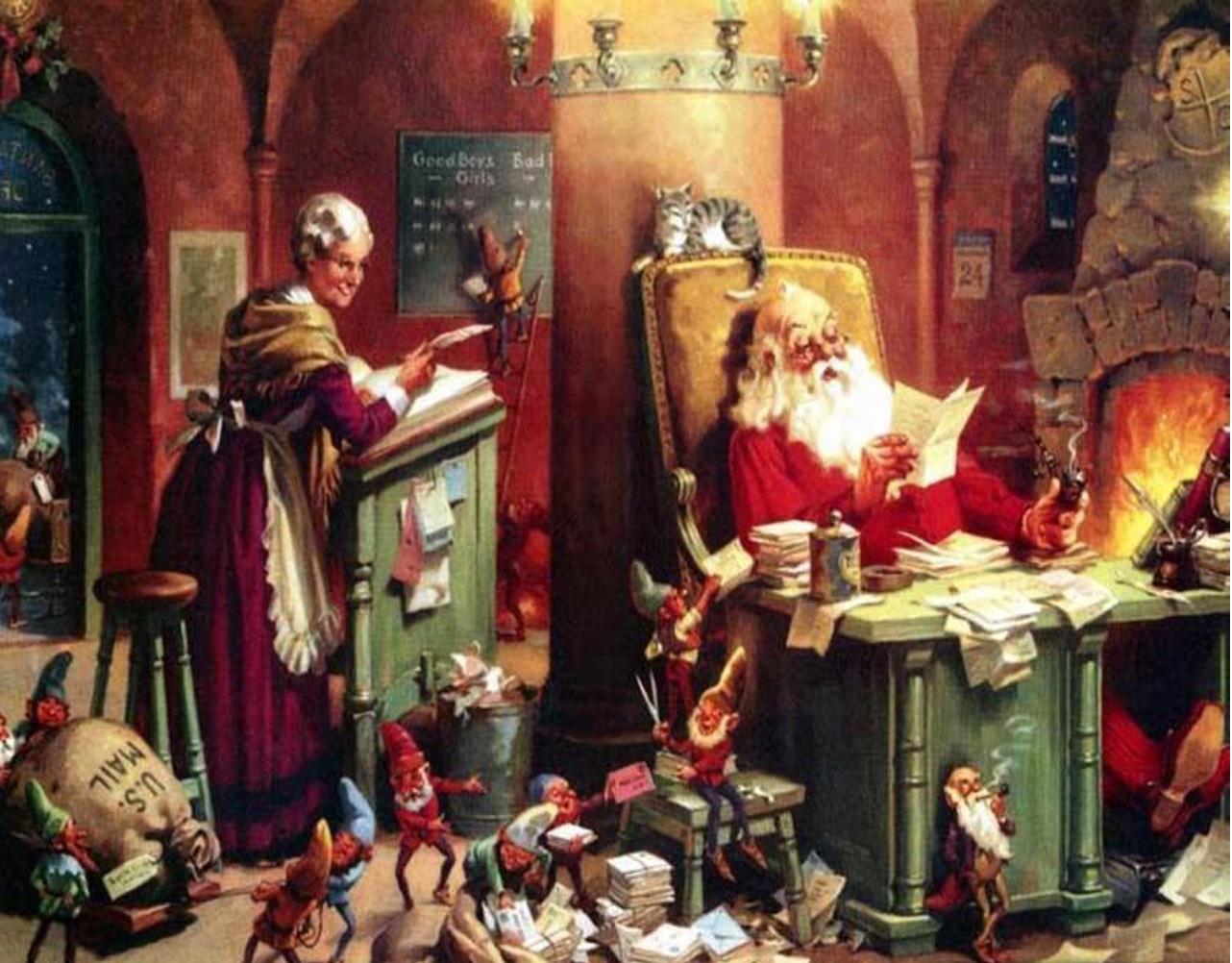 Babbo Natale E Gli Elfi.Storia E Leggenda Dei Folletti Di Babbo Natale