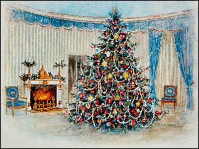 Bigliettino di auguri di Natale della Casa Bianca