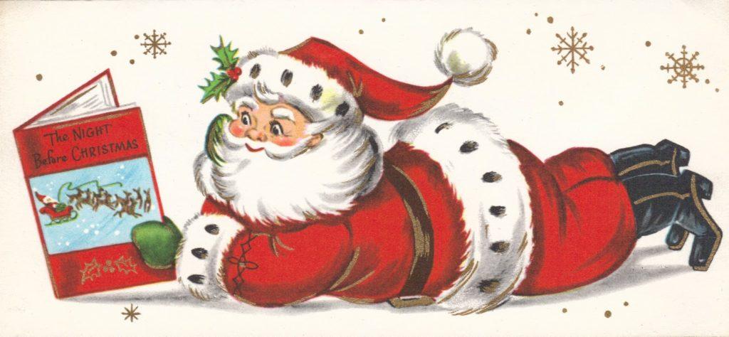 Babbo Natale che legge